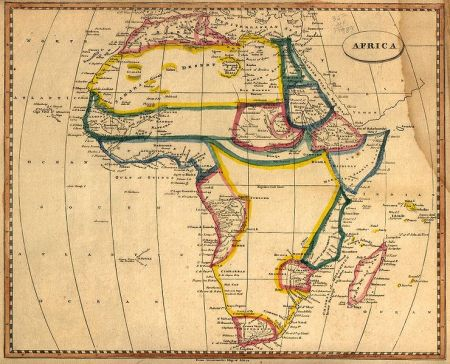 African map of 1812