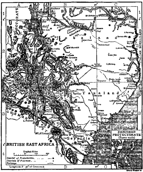 British East Africa Map of Ethiopia Tana land of the Ta Nahesi.jpg