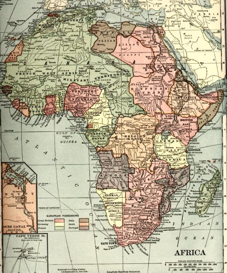 Map of Egypt/Sudan's Nubia Nation. year of 1910