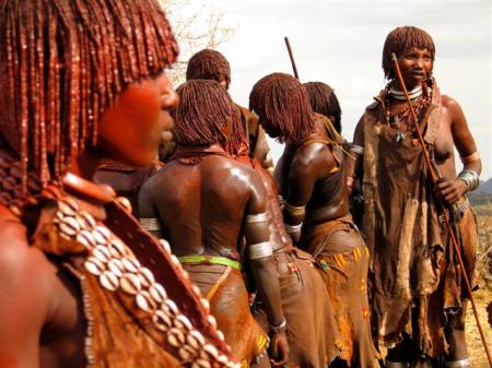 Ethiopian women from Hamer tribe