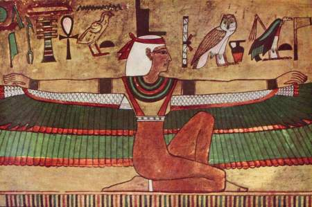 Goddess Isis, wall painting 1360 B.C.