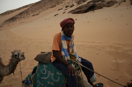 Nubian Boy and Camel