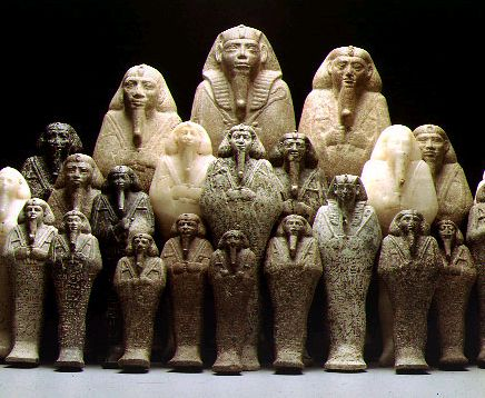Nubian Pharaoah Taharqa collection statues