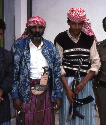 Yemenis with Ak47 and Knife