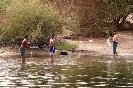 Nubian Boys Playing in the Nile