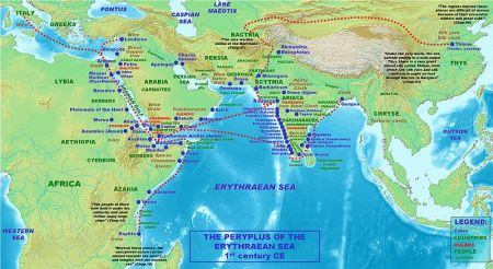 Axumite Erythraen Sea Map 1st century C.E.